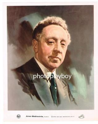 ARTHUR RUBENSTEIN FAMED CHOPIN PIANIST OS DELUXE COLOR PRINTED PORTRAIT 1940's