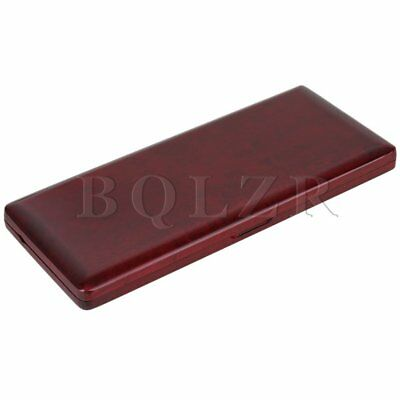 Beautiful Sax Reed Case for 10 Reeds Handmade Solid Wood Reed Box Red Wood Color