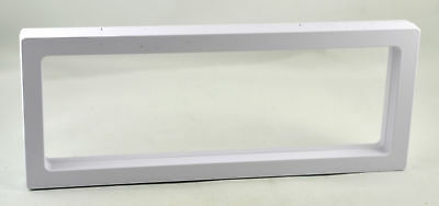 """X LARGE WHITE DISPLAY CASE 9.25"""" x 3.5"""" MAGIC BOX PERFECT TO DISPLAY ANY ITEM"""