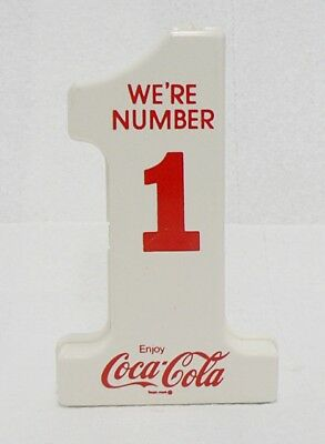 Plastic Coca Cola Coin Bank We're Number 1