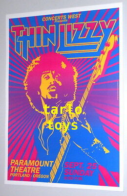 THIN LIZZY  - london, Uk - 2 march 1973 - concert poster
