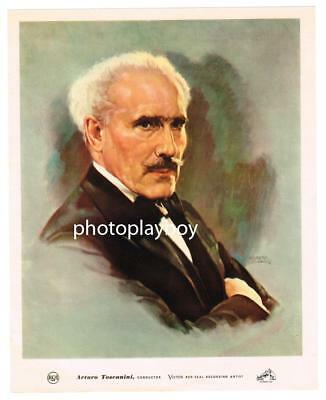 ARTURO TOSCANINI FAMED ORCHESTRA CONDUCTOR OS DELUXE COLOR PRINTED PORTRAIT 40's