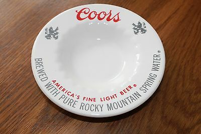 Vintage Coor's Beer Off White Round Advertising Ashtray 6 inch. Coors