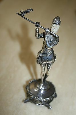 Sterling Silver & Ivory Miniature The Pied Piper Made in Germany