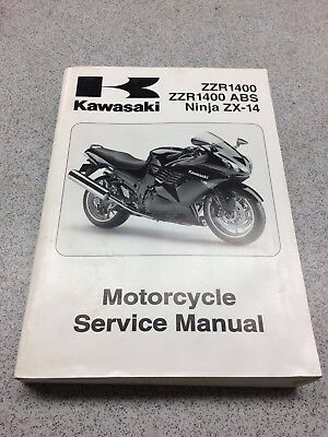 OEM Kawasaki Ninja ZX-14 Motorcycle Manual 2008 C/D