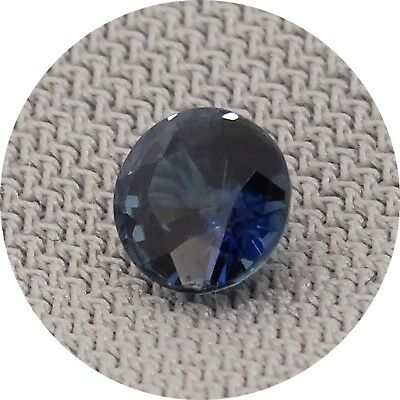 round cut blue sapphire 0.42ct Natural Loose Gemstones