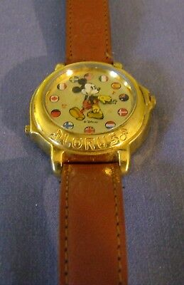 Lorus Musical Mickey Mouse Flags Watch MINT