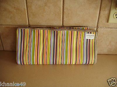 "Longaberger Summertime Stripe 54"" Fabric Table Cloth Square  New * Free Shipping"