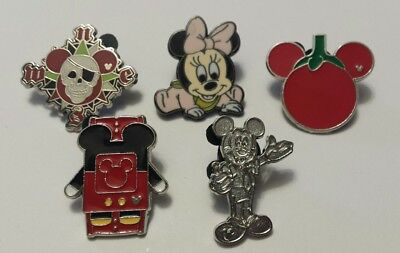 Lot Of 5 Official Walt Disney Trading Pins What You See Is What You Get