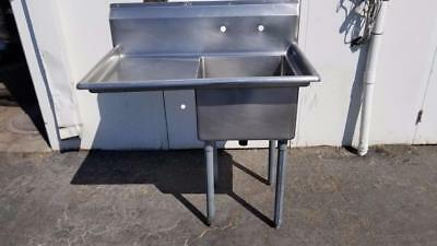 "1 Compartment Prep Sink 18"" x 18"" x 11""d with Left Drainboard"
