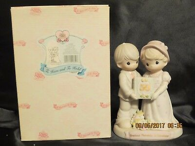 PRECIOUS MOMENTS Figurine 'TO HAVE AND TO HOLD' 50th Wedding Anniversary w/Box