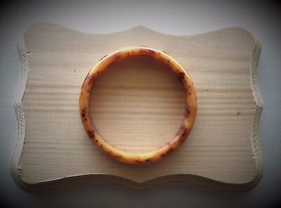 Vintage Butterscotch Bakelite Bangle Genuine Tested Marbled Swirl Brown Coffee