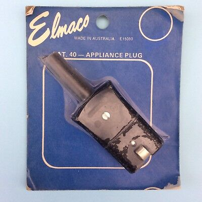 VINTAGE APPLIANCE PLUG ELMACO AUSTRALIA New Old Stock in Packet Unopened Cat 40