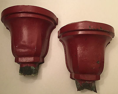 Architectural Salvage Copper Gutter Downspout Head Conductor_Barn Red_Antique