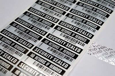 Tamper Proof No Returns If Removed Label Warranty Void Stickers Security Seal