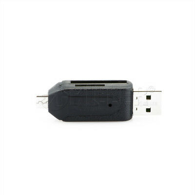 USB 2.0 and OTG to Micro 2-Slot SD/Micro SD Reader Writer Adapter Memory Card