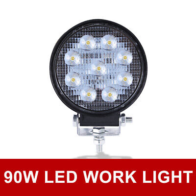 72W SPOT LED Off road Work Light Lamp 12V 24V car boat Truck Driving ATV 6000K