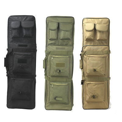100cm Hunting Military Carbine Bag Gun Double Rifle Holder Case Backpack Pouches