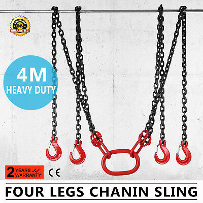 13 Foot Alloy Steel Lifting Chain Sling 4 Legs Sling Hook Chains Adjuster Up