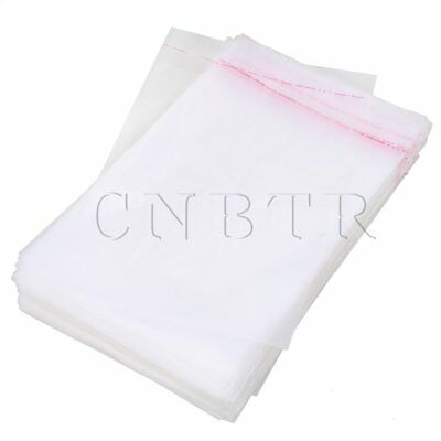 100x Seal Plastic Packaging Bag with Self Adhesive Strip 35x24cm M Size