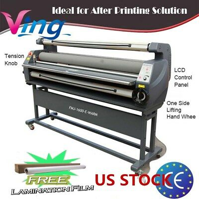 """US Stock 110V 63"""" Ving Full Auto Luxury Heat Assisted Wide Format Cold Laminator"""