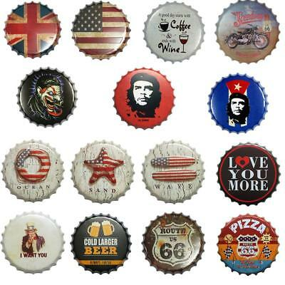 40cm BOTTLE CAP Pub Retro Garage Tin Metal Sign Man Cave Bar Wall Hanging Plaque