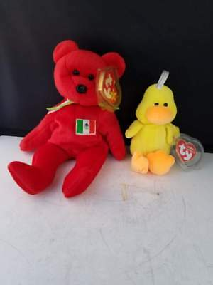 Set of Two Ty Osito beanie baby