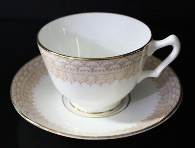Fine Bone China -Crown - Staffordshire England A - Tea Cup and Saucer