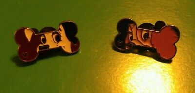 Disney Pins - Set of 2 Dog Bone Pins