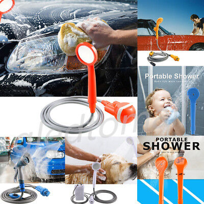 Portable Electric Car Plug Or Rechargeable Outdoor Camping Shower Set Handheld