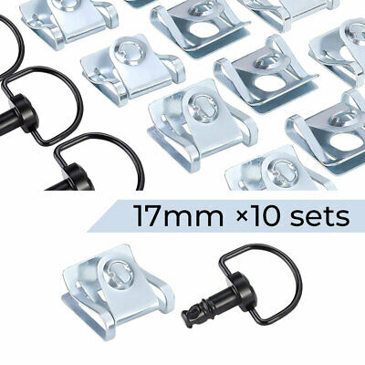 Motorcycle Race Fasteners Quick Release 1/4 Turn Fairing Dzus Panex 17mm Black