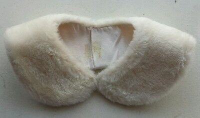 Vintage Blond Beige Soft Faux Fur Collar Fully Lined Ready to Wear