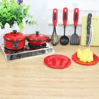 11pcs/set Kids Child Pretend Role Play Toy Chef Kitchen Utensils Cooking Gift