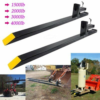 Clamp on LW Pallet Forks 1500lb/2000lb/3000lb/4000lb for bucket loaders tractor