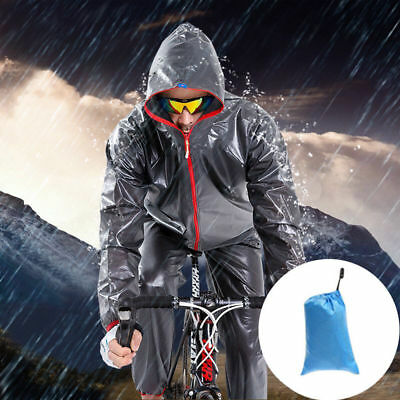 Men's Bike Cycling Rainwear Suits Raincoat Bicycle Riding Rain Pants Clothing