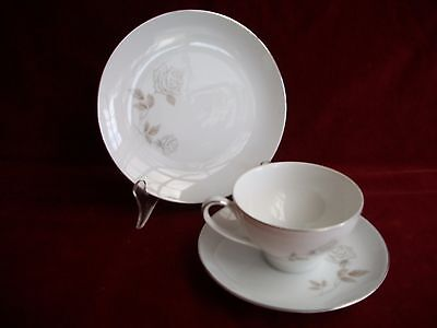 Noritake  # Rosay 6216  Cup / Saucer / Plate Trio