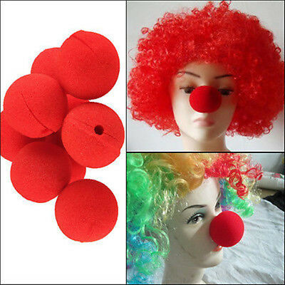 10×Party Sponge Ball Red Clown Magic Nose for Halloween Masquerade Ball Gifts