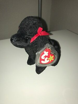 Ty Beanie Baby GiGi the Poddle Dog Mint Tags with Errors Tag protector