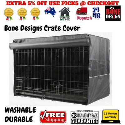 Crate Training Cover for Dog Cage Pet Kennel Metal Collapsible Black cover only
