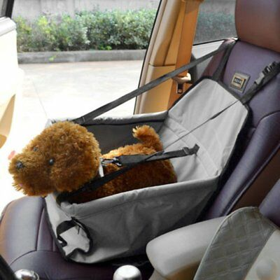Folding Gray Dog Travel Booster Bag Puppy Pet Car Seat Carrier Safety Belt Cover