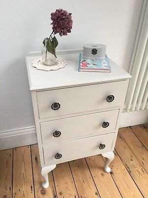 **REDUCED** Stunning Shabby Chic Vintage Antique Bedside Table in Farrow & Ball