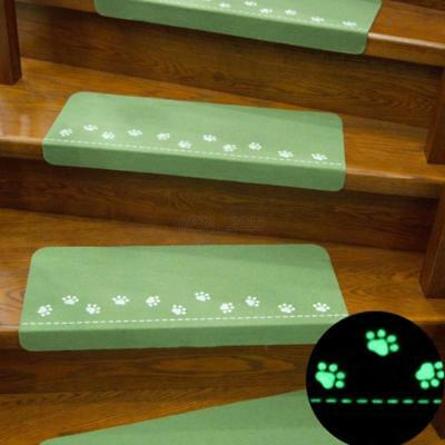 Night Luminous Glowing Staircase Stepping Mat Stair Tread Non-slip Pad Carpet