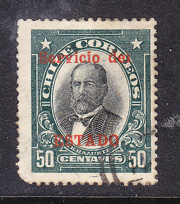 Chile - 1930 50c Service Overprinted #0222