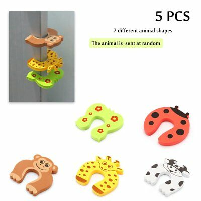 5pc Guard Kid Safety Baby Finger Protector Jammers Stop Door Stopper Lock Pinch