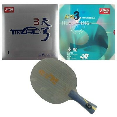 Pro Combo Racket,DHS Hurricane Hao with NEO Hurricane3 / TinArc3 Rubbers