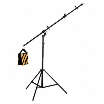 2.3m Reflector Stand + Boom Arm with Light Spigot Adapter
