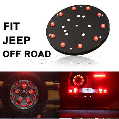 "12.5"" Spare Tire Wheel Red LED Brake Light for Jeep Wrangler JK TJ 1986-2016"