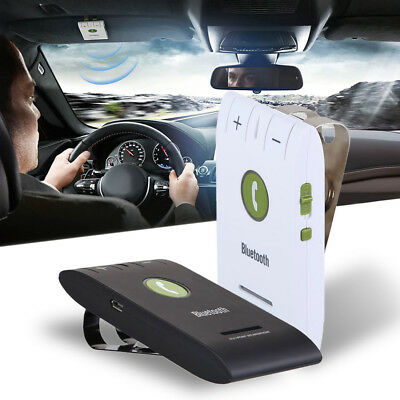 Wireless Handsfree Car Kit Bluetooth Speaker Phone Visor Clip for iPhone Android