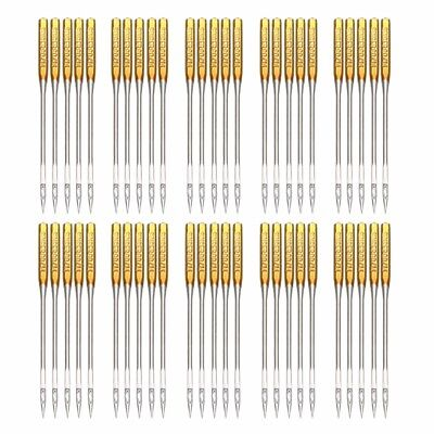 50Pcs Home Sewing Machine Needle Regular Ball Point Size 90/14 No.14 For Singer