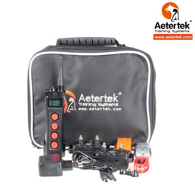 Aetertek Dog Training Shock Collar Remote 1100 Yards Auto Anti Bark for Two Dogs